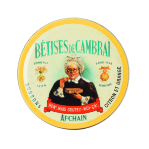 boite betise de cambrai orange citron