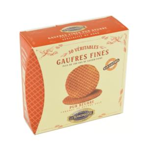 boîte gaufre fine caramel