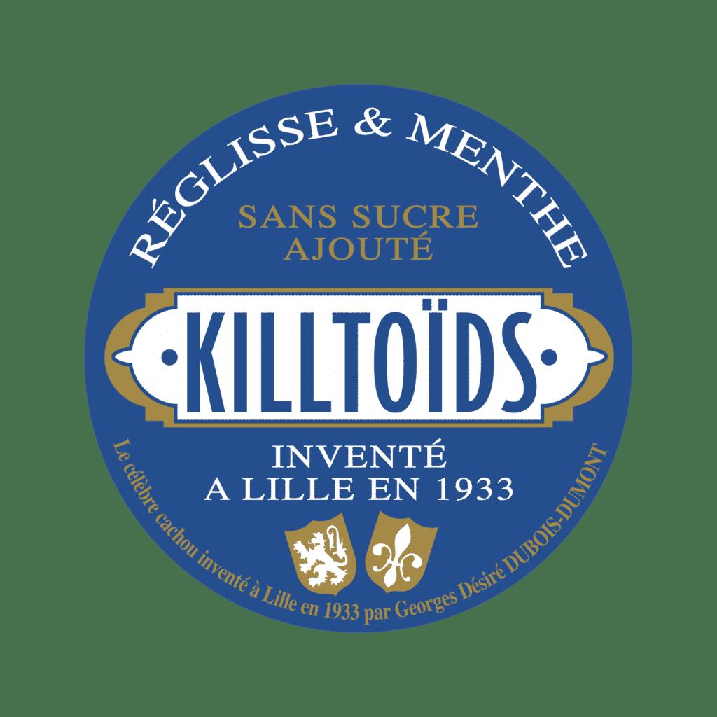 Killtoïds, bonbons au réglisse et à la menthe