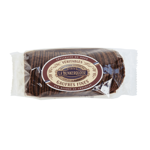 barquette gaufre fine chocolat